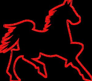 300x265 6788 Running Horse Outline Clip Art Public Domain Vectors