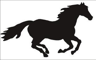 310x195 Running Horse Outline