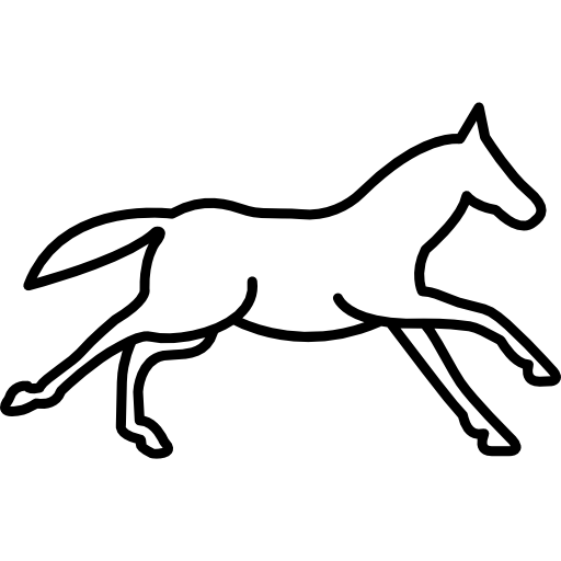 512x512 Running Horse Outline Side View