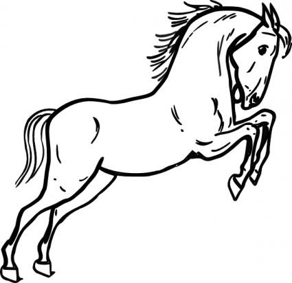 425x412 Best Running Horse Clipart