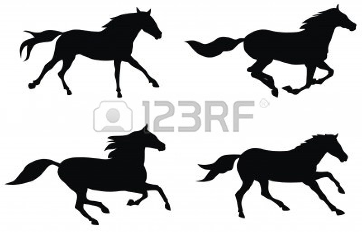 1200x771 Running Horse Silhouette Clipart