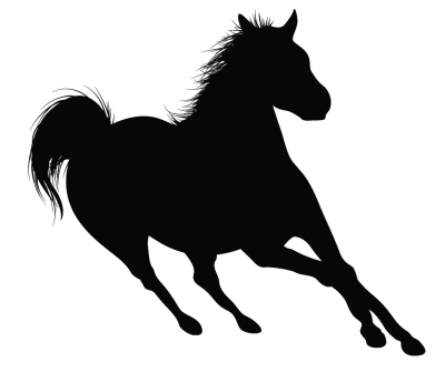 400x344 Running Horse Silhouette Clipart