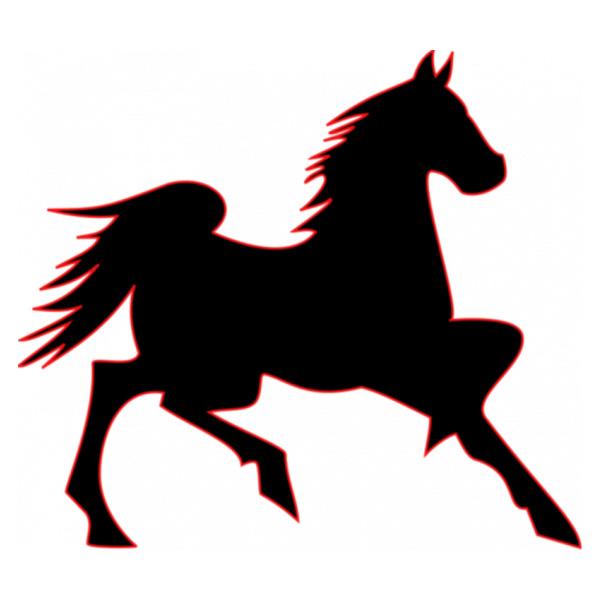 600x600 Running Horse Silhouette Vector