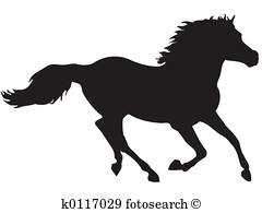 240x195 Running Horse Silhouette Stock Illustrations. 242 Running Horse