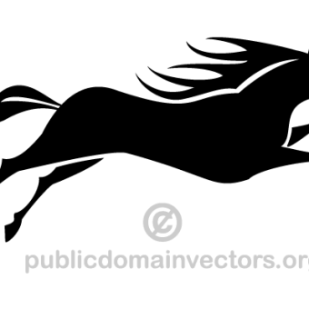 340x340 Horse Silhouette Free Vector 123freevectors