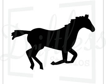 340x270 Horse Stencil Etsy
