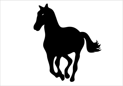 501x352 Running Horse Silhouette Graphics Silhouette Graphics