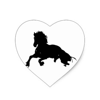 324x324 Running Horse Silhouette Stickers Zazzle
