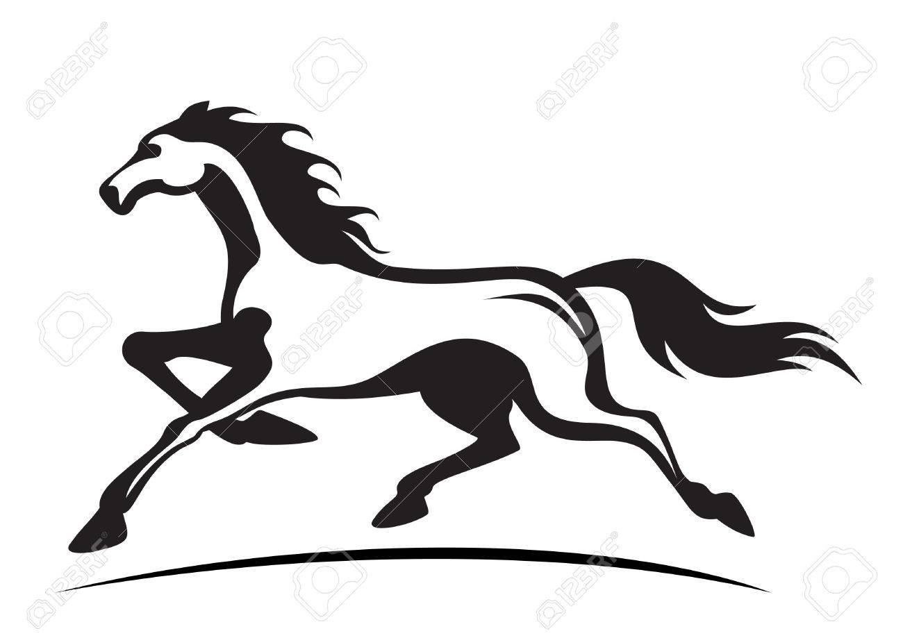 1300x919 Running Horse Vector