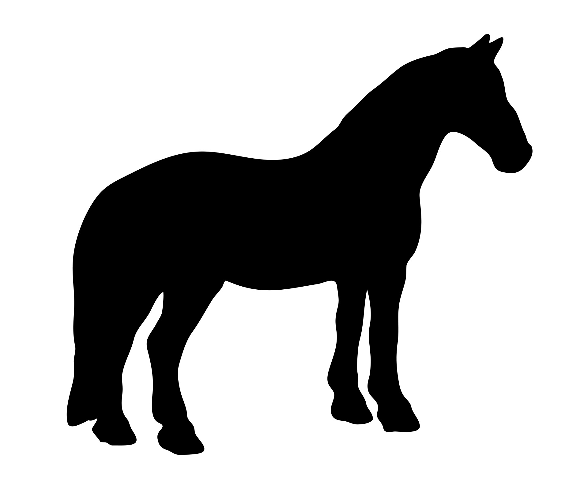 1920x1646 Black Horse Silhouette Free Stock Photo
