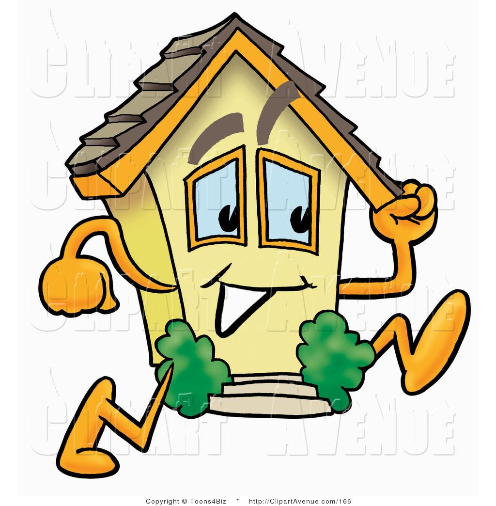1024x1044 Avenue Clipart Of A Yellow Home Mascot Cartoon Character Running