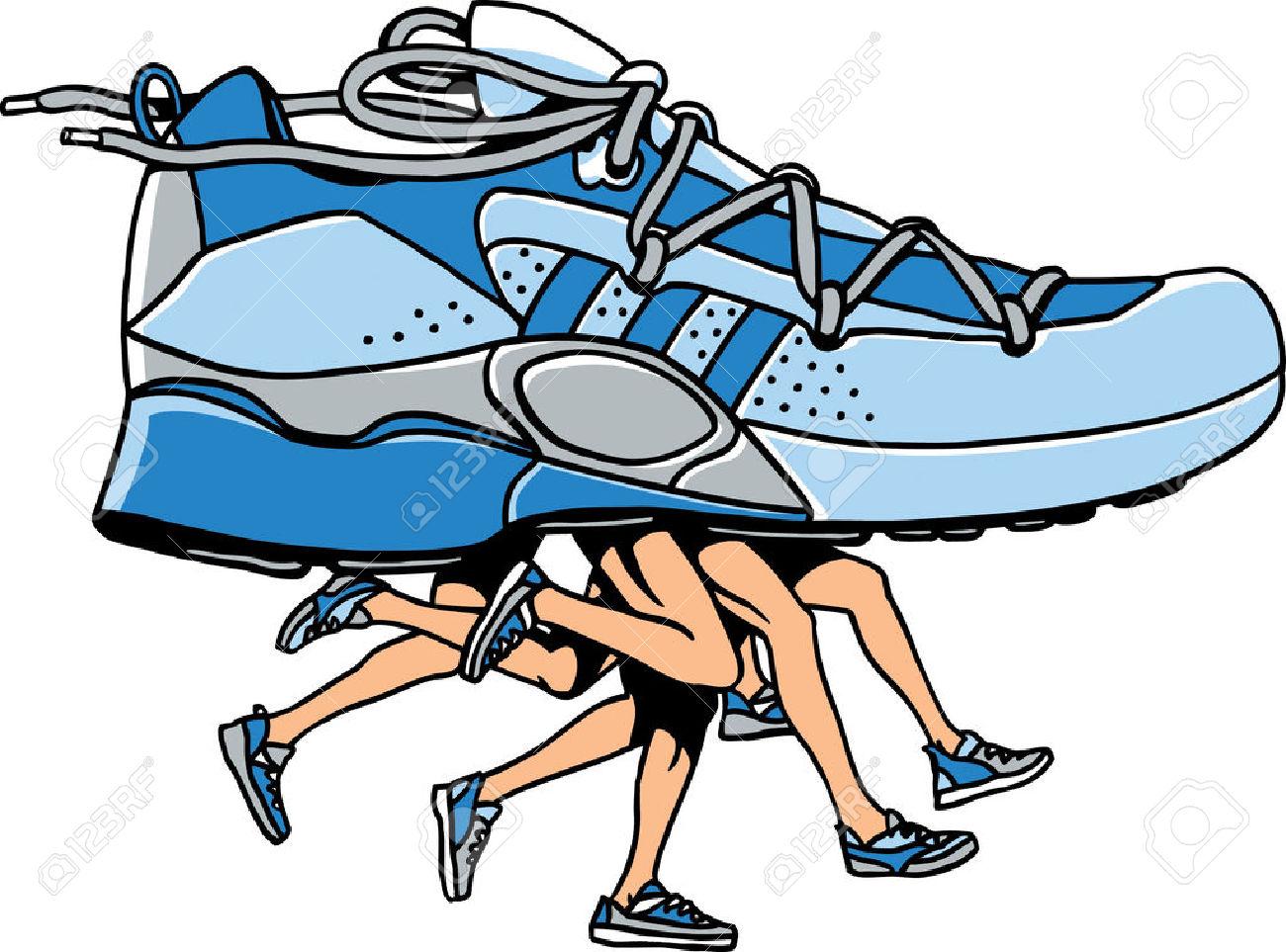 1300x963 Cartoon Clipart Running Shoe
