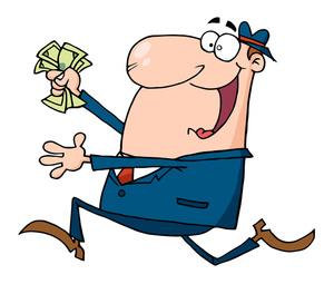 300x255 Greed Cartoon Clipart Image