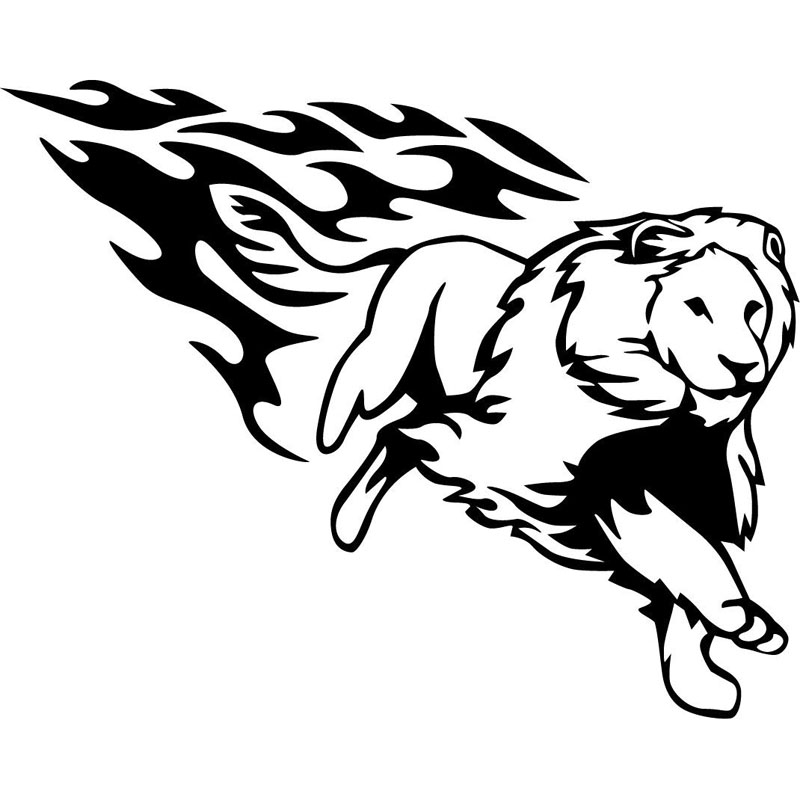 Running Lion Clipart