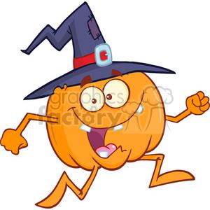 Running Pumpkin Clipart