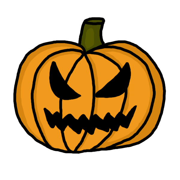 600x600 Scary Pumpkin Clip Art Co Image
