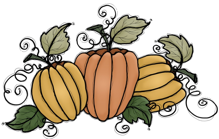 900x571 Turkey And Pumpkin Clipart