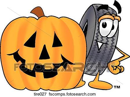 450x338 Clip Art Of Tire With Pumpkin Tire027