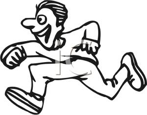 300x235 Running Race Clipart Black And White