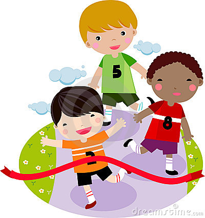 400x425 Children Running Race Clipart