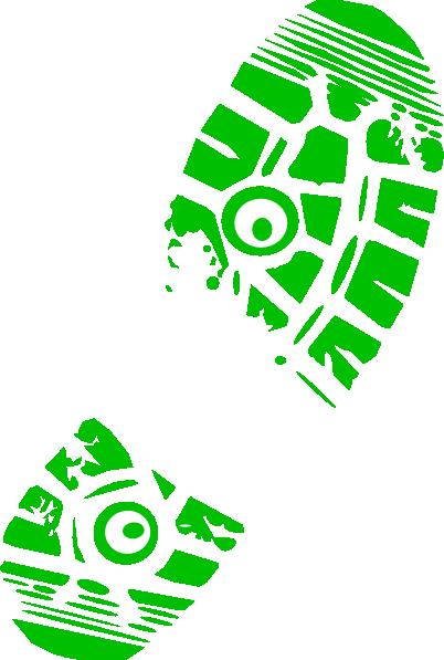 402x597 Green Running Shoe Print Clip Art