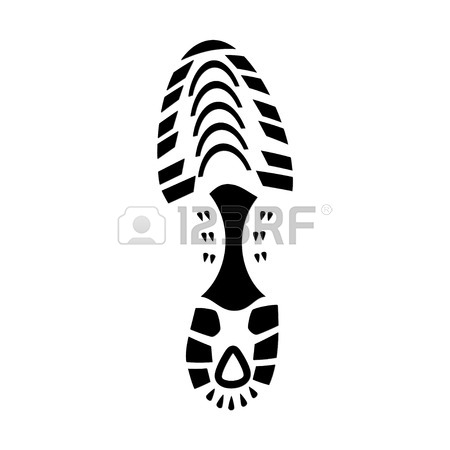 450x450 791 Running Shoe Print Stock Illustrations, Cliparts And Royalty