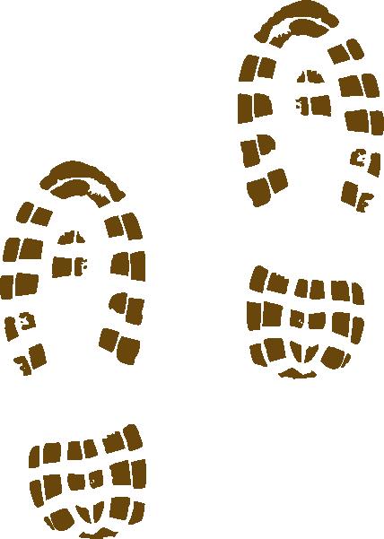 428x601 Muddy Shoe Prints Clip Art