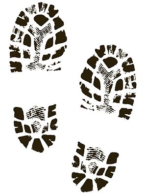 300x394 Boots Shoes Shoe Print Clip Art Free Vector In Encapsulated Image