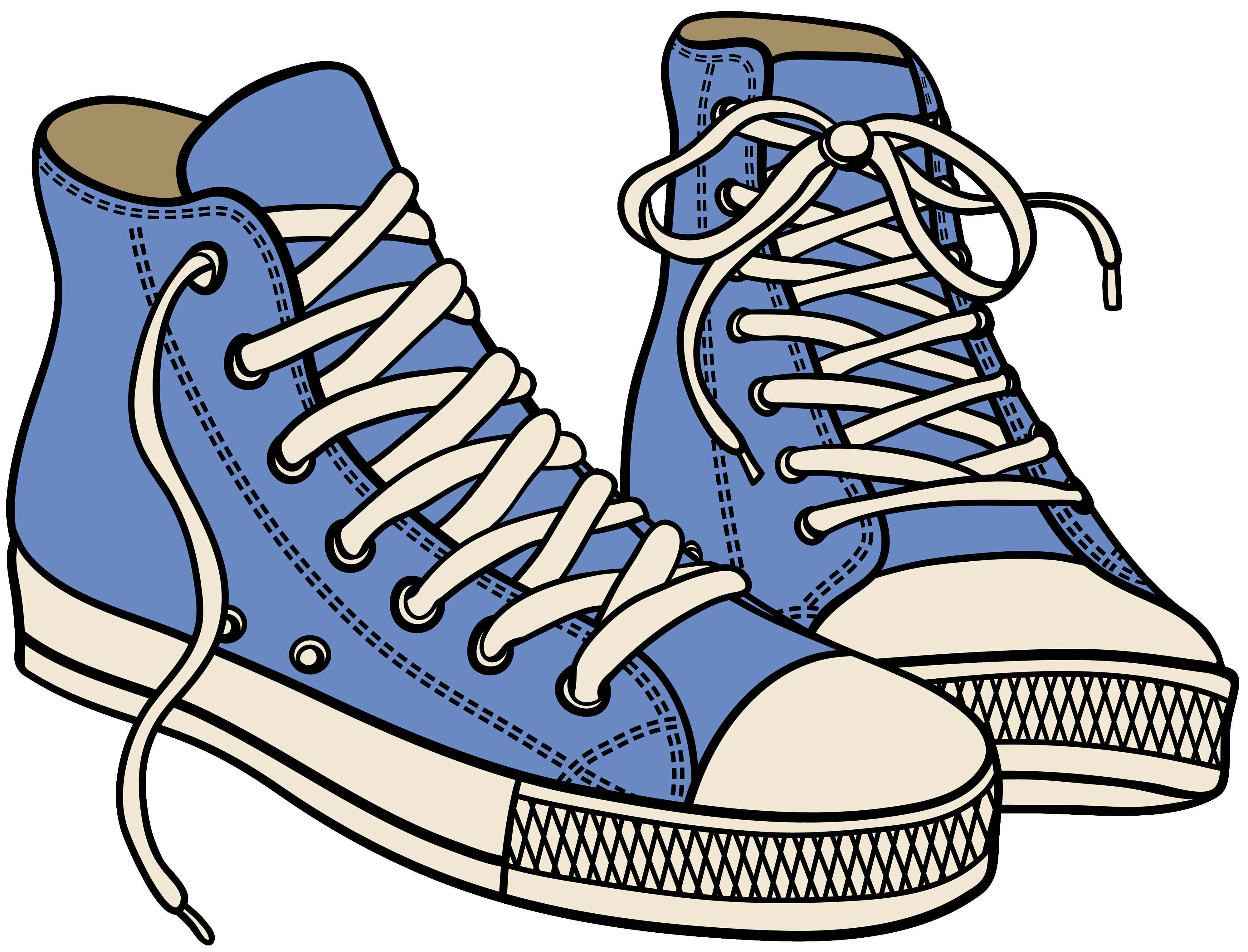 Running Shoes Cartoon Clipart | Free download best Running