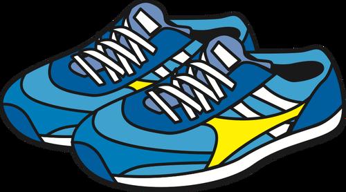 500x278 Jogging Shoes Public Domain Vectors