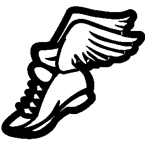 300x300 Track Shoe With Wings Clip Art