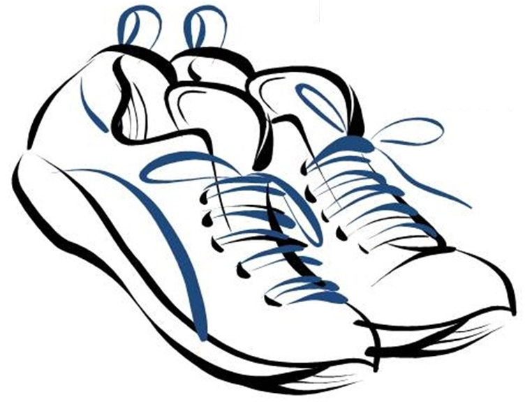 752x579 White Running Shoes Drawing