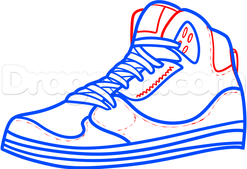 Running Shoes Drawing Free Download Best Running Shoes
