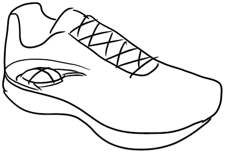 456x310 Drawn Shoe Sport Shoe
