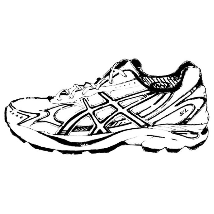 687x687 How To Draw Nike Running Shoes