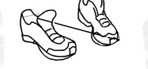 300x140 How To Draw A Pair Of Running Shoes On The Computer Drawing