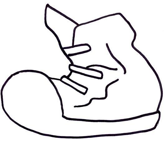 533x452 Running Shoe Clipart