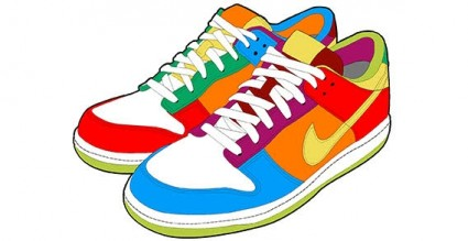 425x219 Running Shoes Clipart