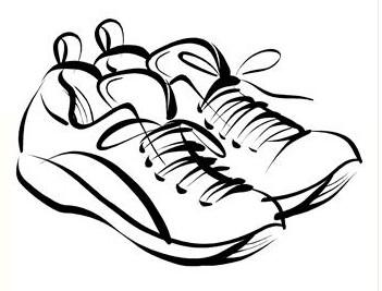351x267 Running Shoes Drawing Clipart Panda