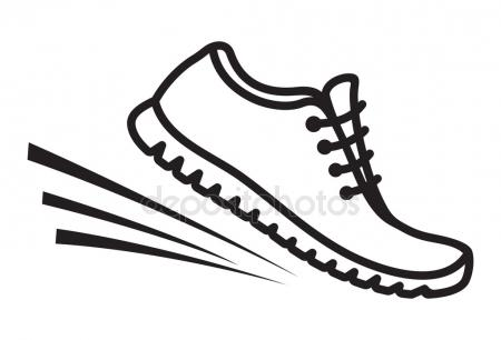 450x306 Running Shoe Print Stock Vectors, Royalty Free Running Shoe Print