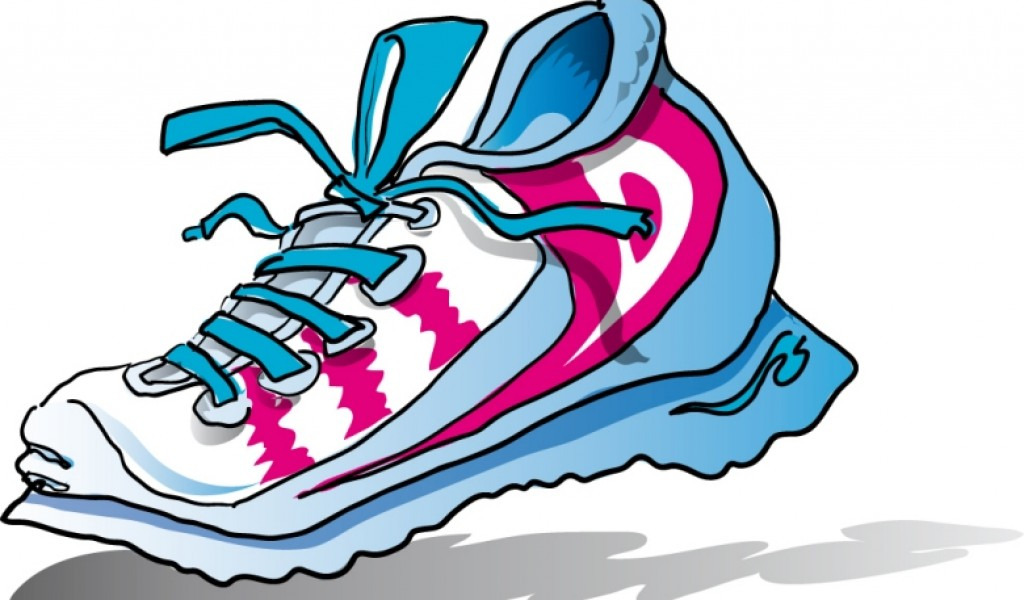 1024x600 Running Shoes Clipart