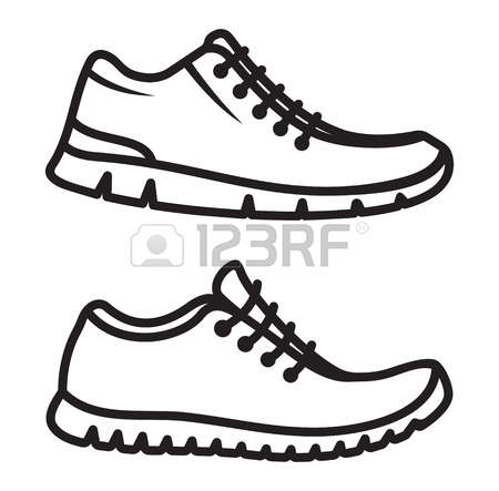 450x443 Clipart Running Shoes