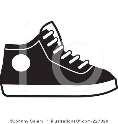 Running Shoes For Women Cartoon Clipart