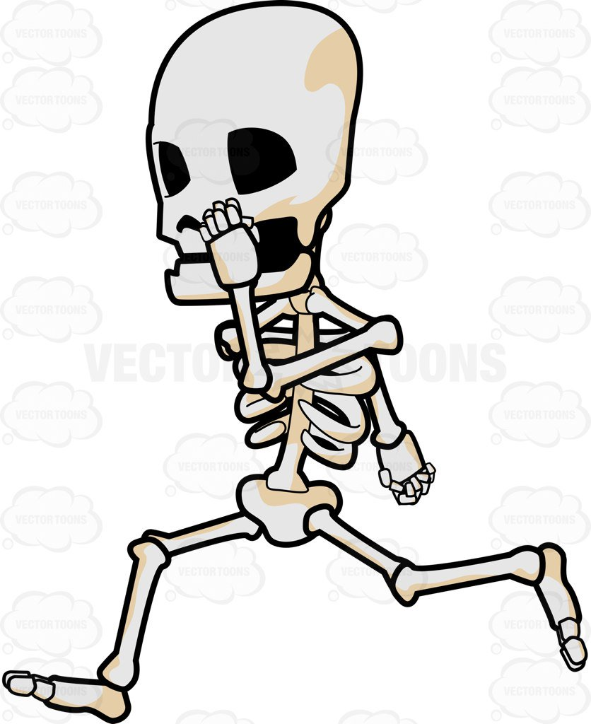 836x1024 A Skeleton Running So Fast Cartoon Clipart