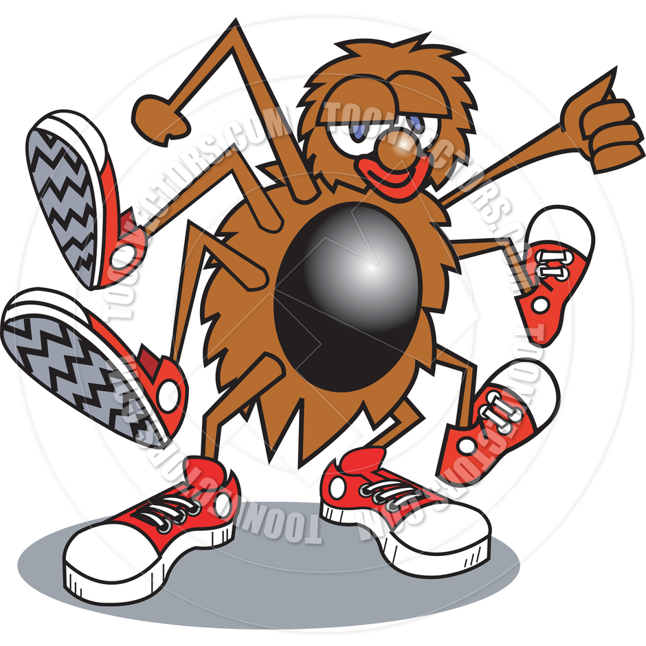 940x940 Cartoon Spider Shoes Vector Illustration By Clip Art Guy Toon