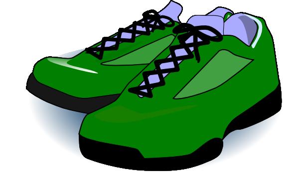 600x348 Forest Green Tennis Shoes Clip Art