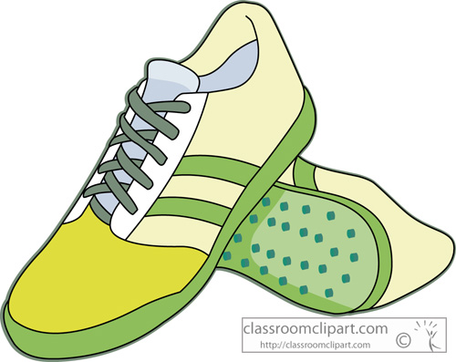 Running Shoes For Women Cartoon Clipart