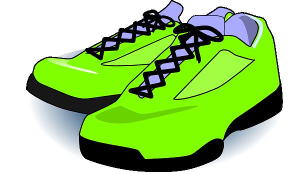 600x348 Neon Green Tennis Shoes Clip Art