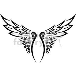 300x300 Royalty Free Vinyl Ready Vector Wing Tattoo Design 018 392709
