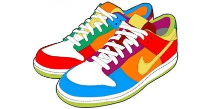 425x219 Running Shoes Clip Art